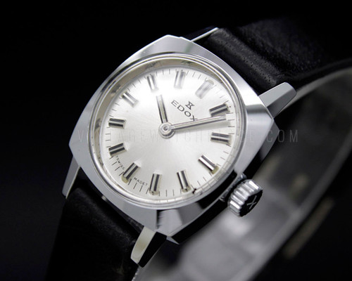 Edox Tiny NOS 70s Mechanical Vintage New Old Stock watch FHF 69-21