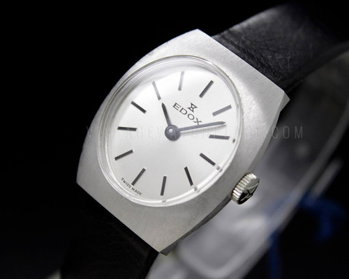 Edox Tonneau NOS 70s Mechanical Vintage New Old Stock watch ETA 2512
