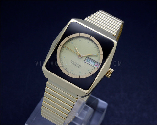 New Old Stock Unusual rare fancy Thermidor Swiss made automatic watch vintage retro