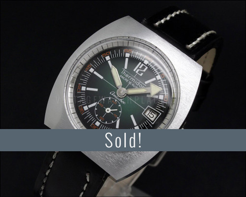 Thermidor (Diver Style) mechanical NOS , Green dial