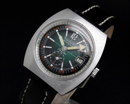 Diver style Thermidor vintage mechanical watch Cupillard 233-66 french movement