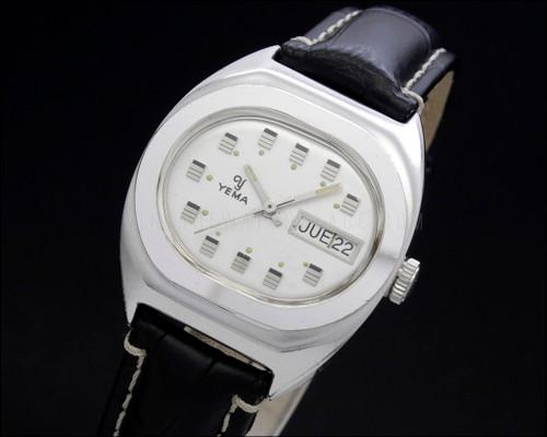 Yema mechanical FE 140-1 silver dial