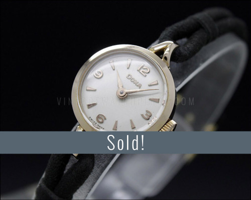 New Old Stock 50s!!, Tiny DOXA, Rose gold filled, cocktail vintage watch