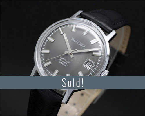 Thermidor Automatic dress, NOS vintage watch, gray dial, very elegant