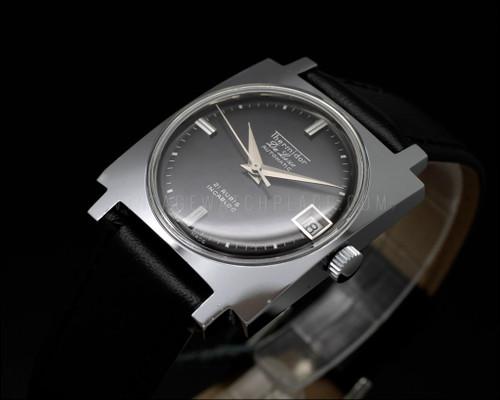 Thermidor De Luxe Automatic, Square, NOS vintage watch, black dial, Very  dainty, ETA 2452