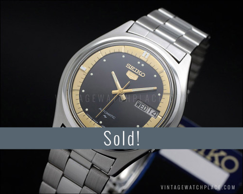 Seiko 5 automatic, New Old Stock, vintage watch 7009-8020, superb!, NOS