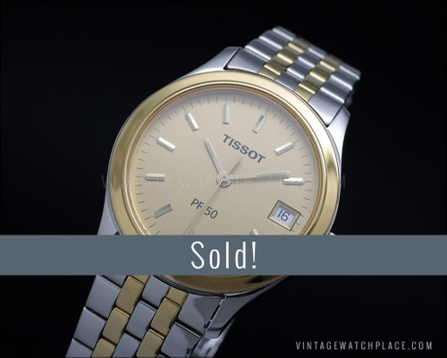 New Old Stock Tissot PR 50 vintage quartz watch, Swiss pack