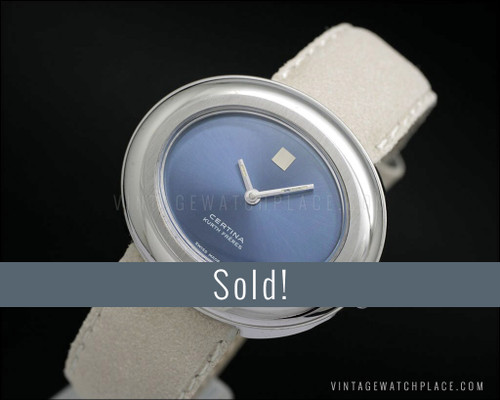 NOS Certina Kurth Freres oval mechanical vintage watch for ladies