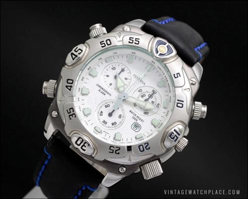 Festina Chronograph monster watch vintage quartz, Alarm big watch