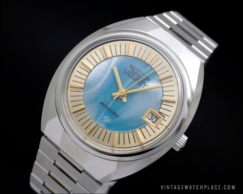 New Old Stock mother of pearl mechanical vintage watch NOS