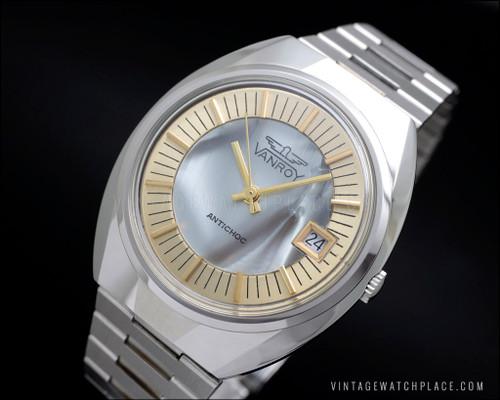 NOS vintage watch Vanroy mechanical manual winding FE 140-1