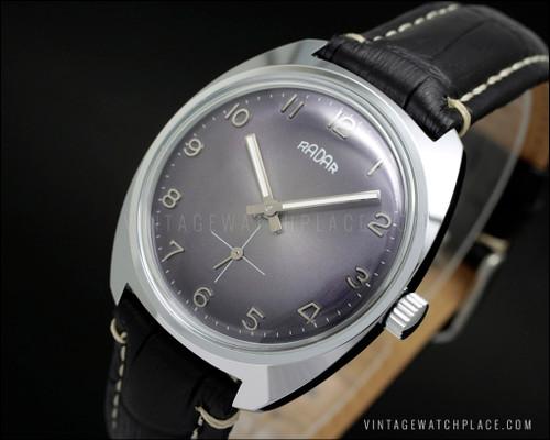 Radar mechanical vintage watch purple dial