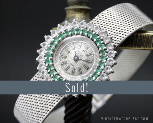 NOS Thermidor mechanical Cocktail jewelry watch, 925 Silver