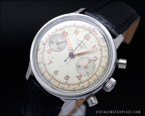 Cronometro Work Swiss made mechanical vintage watch Landeron 48 chronograph