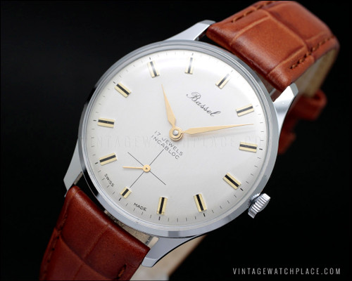New Old Stock mechanical vintage watch Bassel, Unitas 6325 movement Wehrmachtswerk (army movement)
