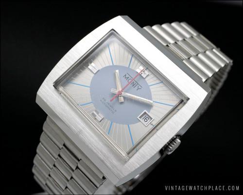 New Old Stock Heuer Monaco style vintage watch