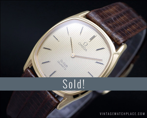 New Old Stock Omega De Ville gold plated