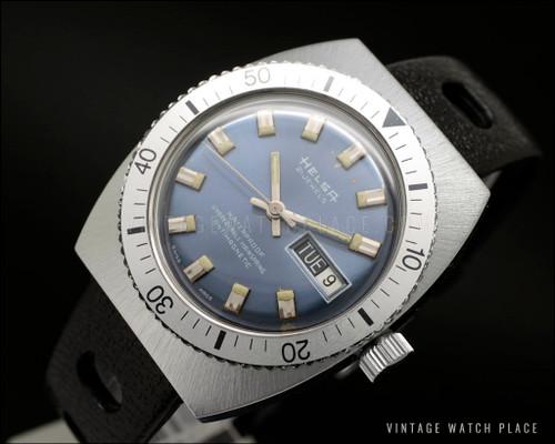 Rare Helsa Diver mechanical vintage watch