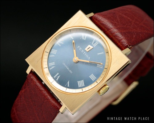 New Old Stock Festina pink gold plated vintage watch