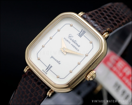 New Old Stock Certina Kurth Frères quartz vintage watch