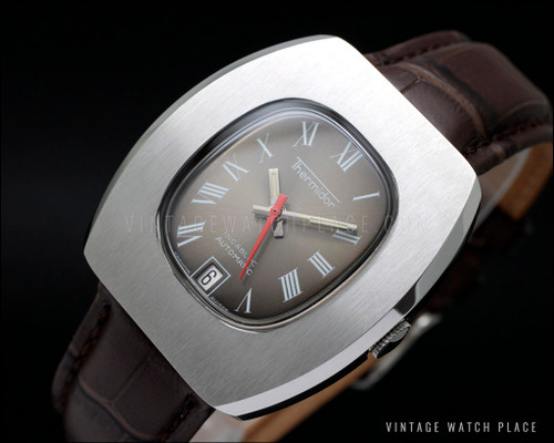 New Old Stock Thermidor Automatic vintage watch, good size! Roman