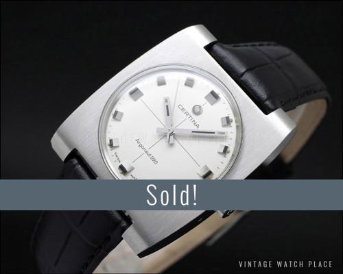 New Old Stock Certina Argonaut 220 mechanical vintage watch