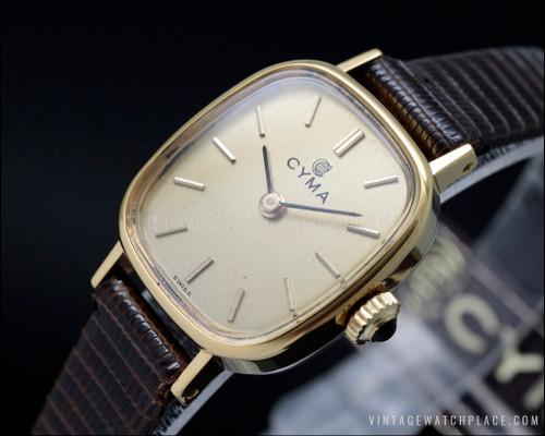 New Old Stock Ladies' Cyma Dress mechanical vintage watch
