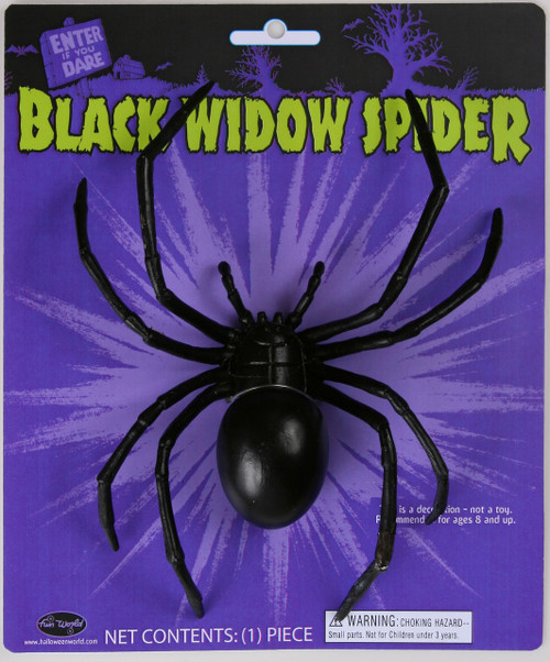 6IN BLACK WIDOW SPIDER