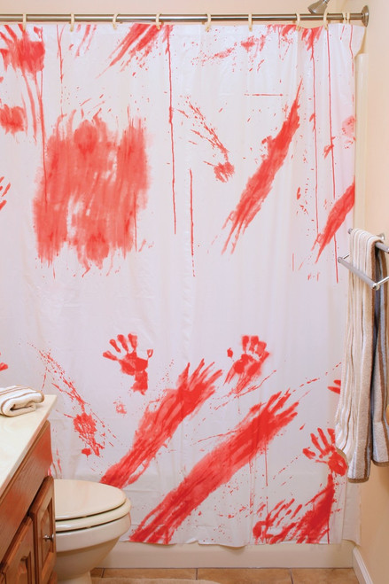 70IN X 72IN BLOODY SHOWER CURTAIN