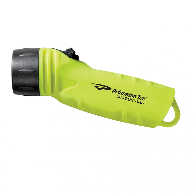 Princeton Tec League 420 Handheld 420 Lumen Dive Light neon yellow BoyersMart