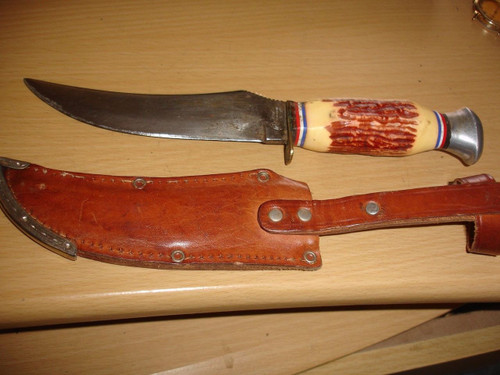 set of knife and leather sheath front