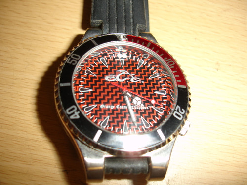 Orange County Choppers Gents Watch  St. Steel Case Rubber Band
