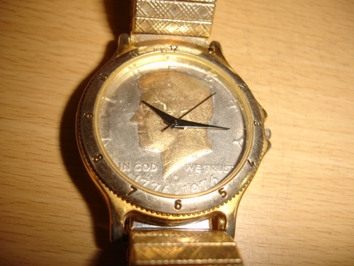 Bicentennial Kennedy half$ dial  quartz watch