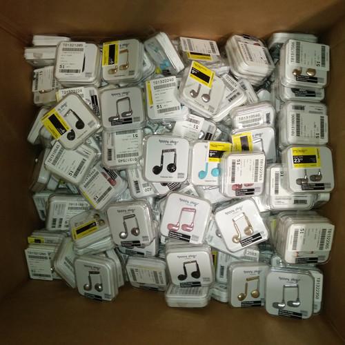 193 Units of Happy Plugs  Headphones - MSRP 4004$ - Returns (Lot # 555234)