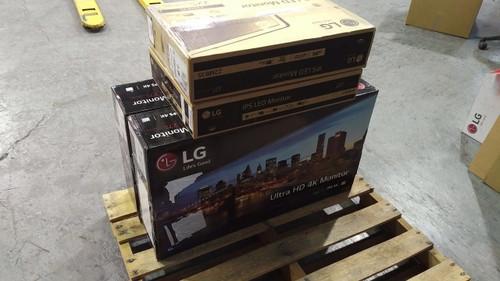1 Pallet # 14599 - 4 units of LG Monitors - MSRP 1509$ - New