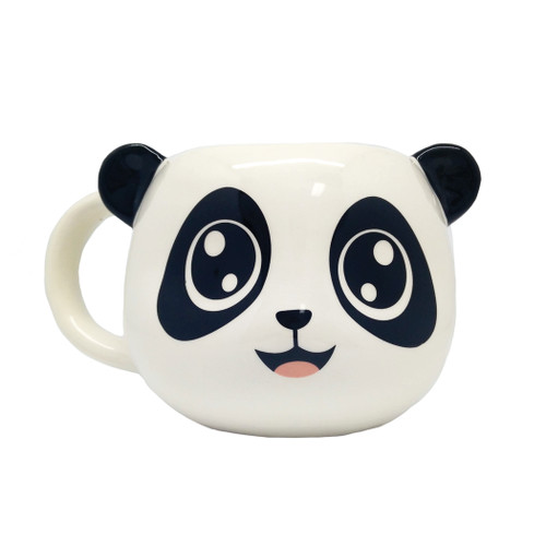 12 Units of Hand Painted Ceramic Panda Mugs - 16cm x 9cm - MSRP 120$ - Brand New (Lot # CP563904)