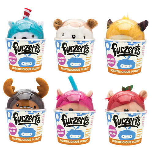 """6 Units of Furzets Scented Plushes Large 13"""" (6 Assorted Models) - MSRP 120$ - Brand New (Lot # CP563909)"""