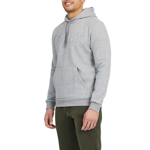 14 Units of Puma Men's Pullover Hooded Sweatshirt - Grey - Small - MSRP 406$ - Brand New (Lot # CP566205)