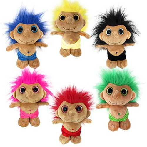 """60 Units of Troll Friends Plush Toys 8"""" (6 Models) - MSRP 539$ - Brand New (Lot # CP569306)"""
