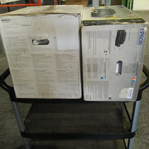 CLEARANCE: 2 Boxes #14952 - 2 units of Epson Workforce & Xerox Workcenter Printers  - MSRP 650$ - Refurbished