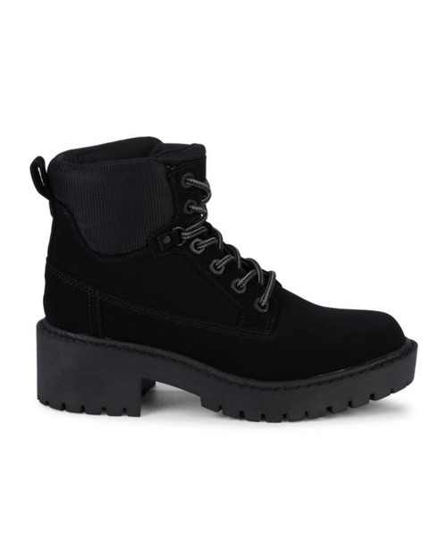 11 Units of Kendall & Kylie Women's Faux Suede Combat Boots - Black - 5M - MSRP 440$ - Brand New (Lot # CP575218)