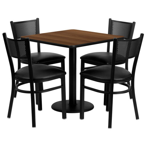5 Units Of Flash Furniture Tables With 4 Metal Chairs Msrp 3080