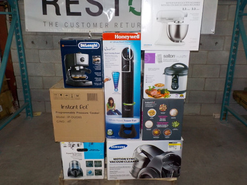 1 Pallet #13783 - 24 units of Small Appliances - MSRP 5549$ - Returns
