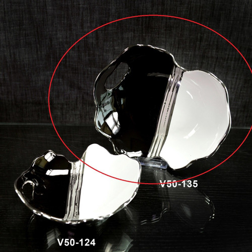 """6 Units of Decorative Plate with Handles - Black/ White / Silver (12"""" X 12"""") - MSRP 207$ - Brand New"""