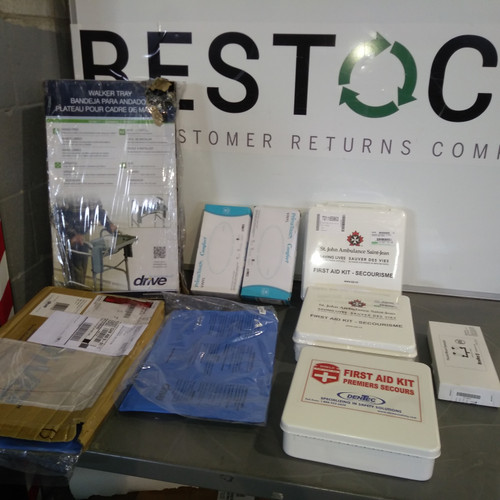 14 Units of Safety & Medical Supplies - MSRP 1126$ - Returns