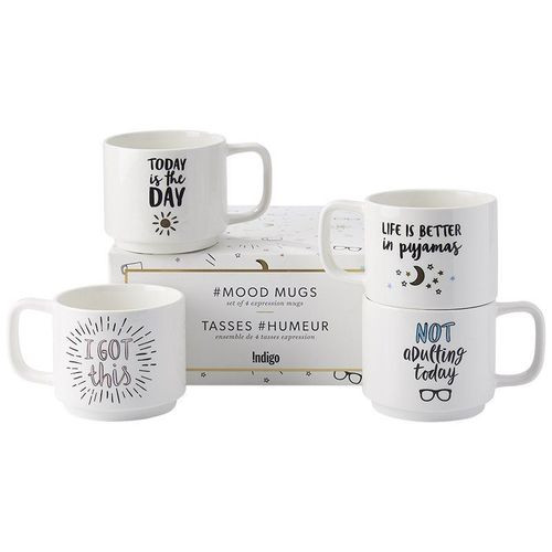 519 Units of Stackable Expression Mugs - Set of 4 - MSRP 7526$ - Brand New