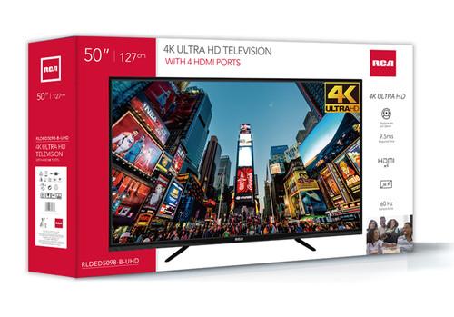 "RCA 50"" Class 4K Ultra HD (2160P) LED TV - MSRP 450$ - Like New"