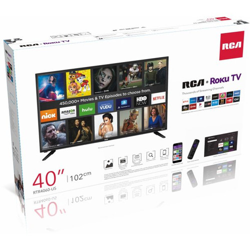 "RCA 40"" FHD (1080p) Roku Smart LED TV - MSRP 350$ - Like New"