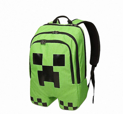 19 Units of Minecraft Creeper Adjustable Backpacks - MSRP 845$ - Brand New (Lot # CP548002)