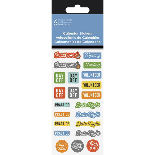 144 Units of Family Calendar Stickers - MSRP 575$ - Brand New (Lot # CP545302)